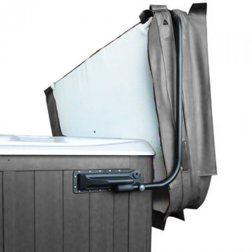 Blue Whale Spa - Grey cover lifter for white shell hot tubs
