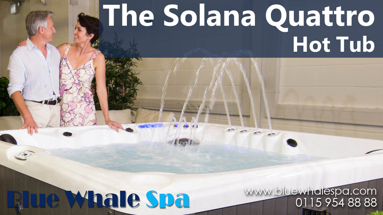 Solana Quattro 6 Person Hot Tub With 1 Lounger Blue Whale Spa For And Parts Spares Accessories Packs Equipment