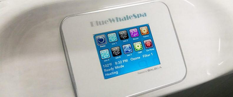 Blue Whale Spa | High Quality Hot Tub American Balboa Touch Screen Control