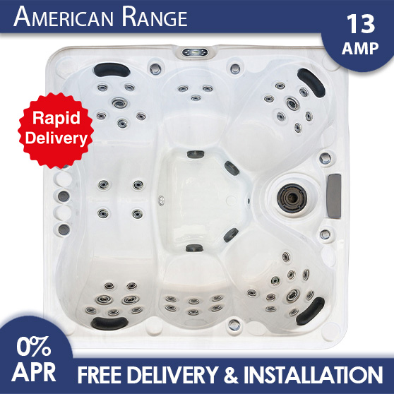 Blue Whale Spa   Malibu 3 High Quality Luxury American Hot Tub With Rapid Delivery