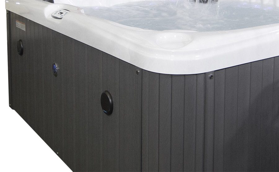 Solana Quattro 6 Person Hot Tub With 1 Lounger   Blue Whale Spa