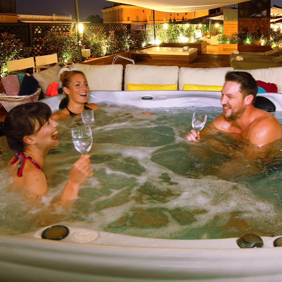 ex demo hot tub sale clearwater 5 person hot tub blue. Black Bedroom Furniture Sets. Home Design Ideas