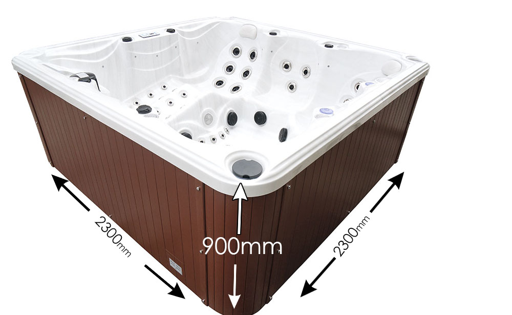 Blue Whale Spa | Ventura IV Exclusive to Argos Hot Tub Dimensions