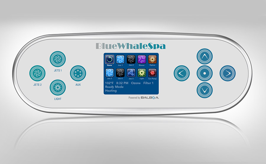 Blue-Whale-Spa-Ex-Demo-Hot-Tubs-Solana-MS-Control-Panel