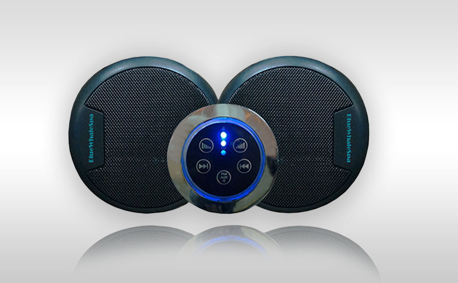 Blue-Whale-Spa-Ex-Demo-Hot-Tubs-Pacifica-Bluetooth-Speakers | Blue