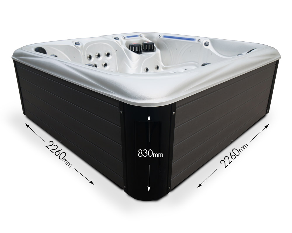 Blue Whale Spa | Liberty Bay 6 Person Hot Tub Dimensions