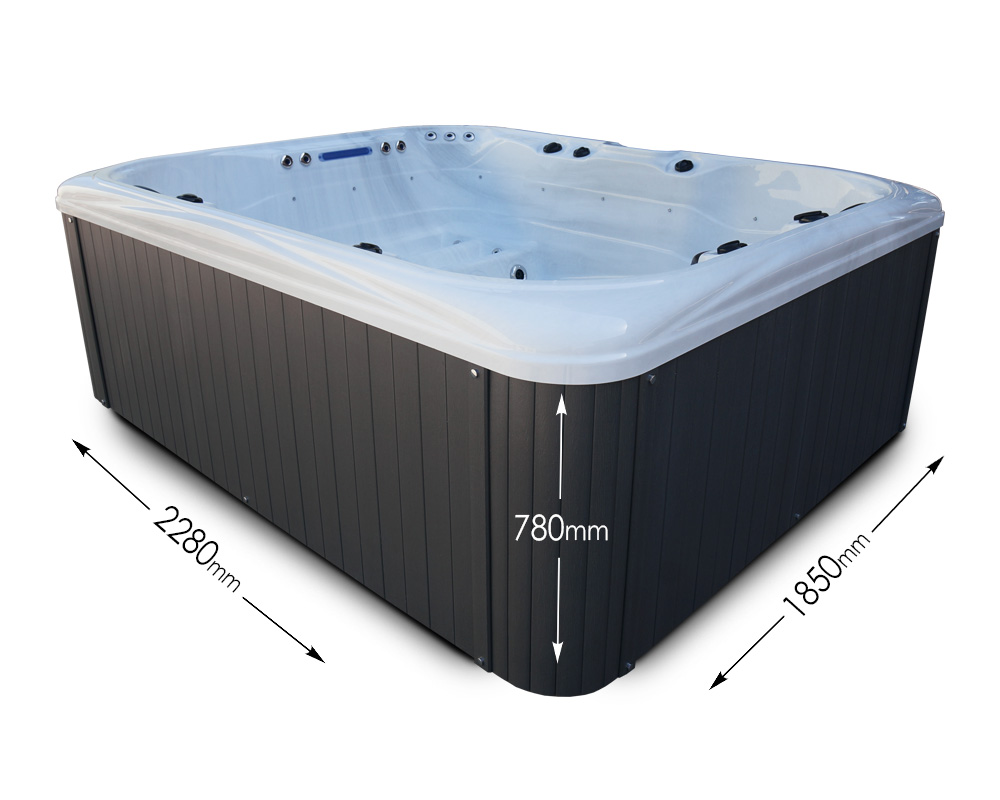 Blue Whale Spa - Whitewater Bay - Dimensions