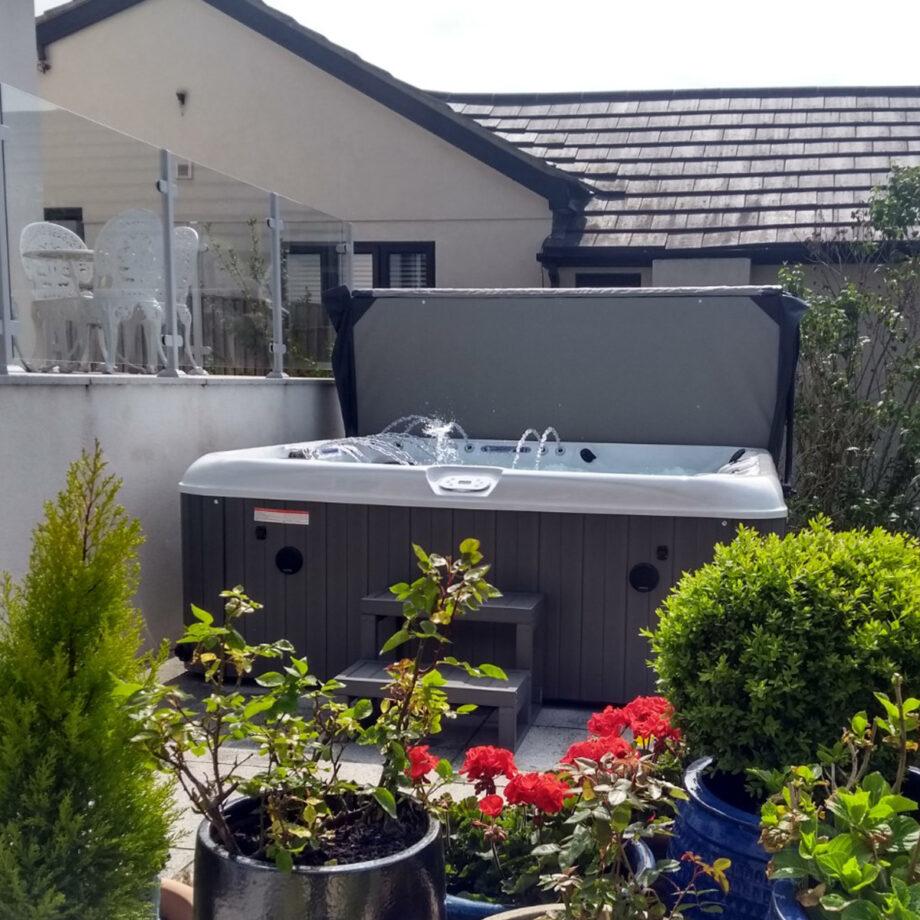 Longport hot tub installation example