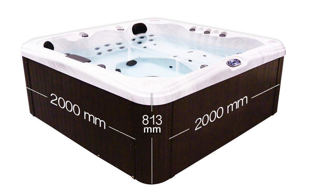 Blue Whale Spa   Malibu III Hot Tub Dimensions