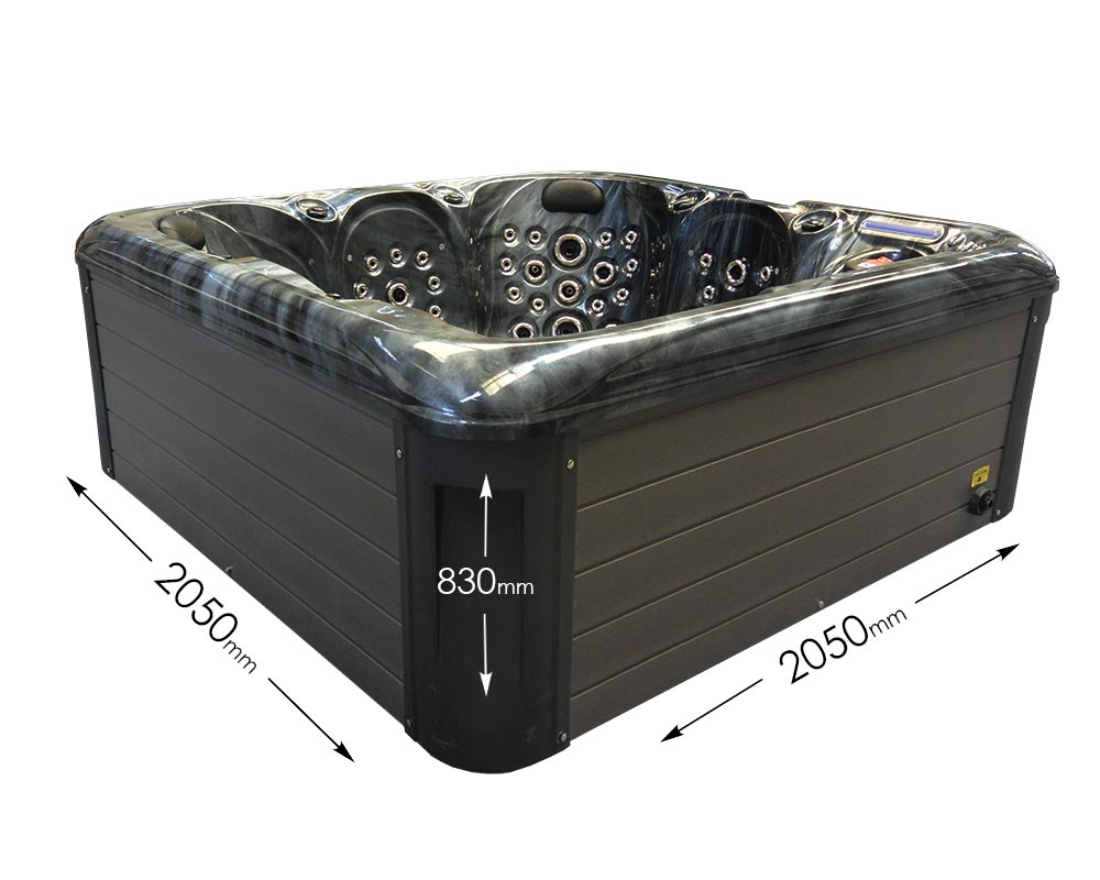 Blue Whale Spa - Kingsbury Hot Tub - Dimensions