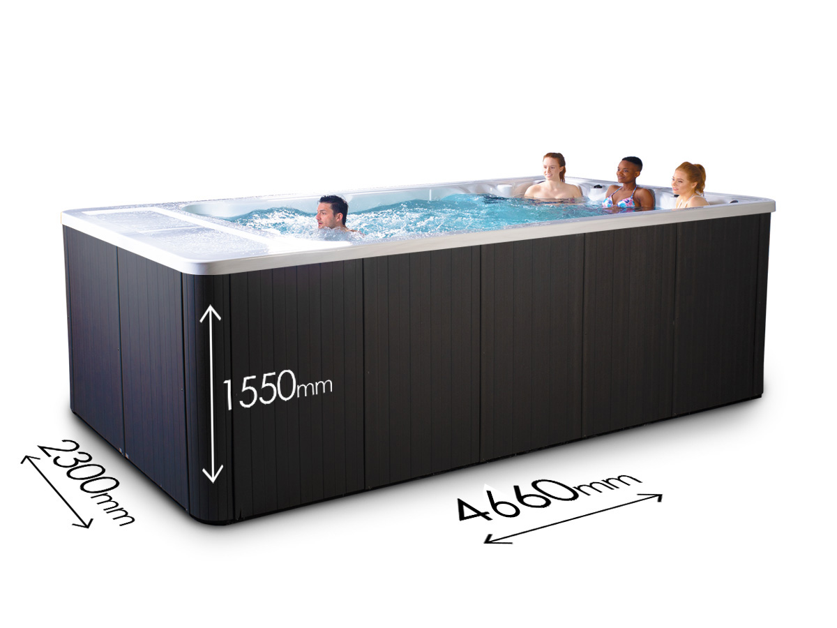Blue Whale Spa - Vector Stream Swim Spa - Dimensions