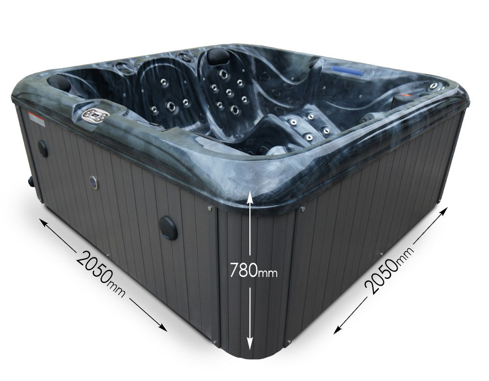 Ocean Grove 5 person hot tub - Dimensions