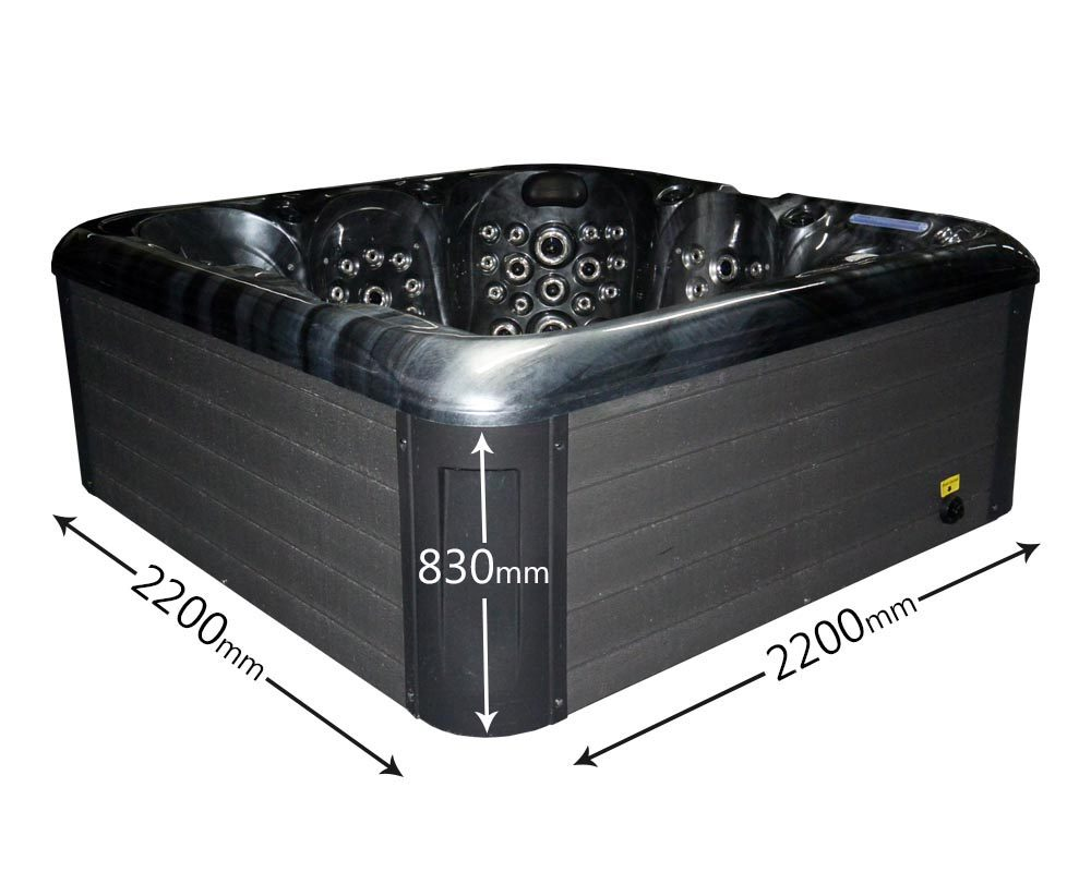 Blue Whale Spa - Moonlight Bay Hot Tub Dimensions