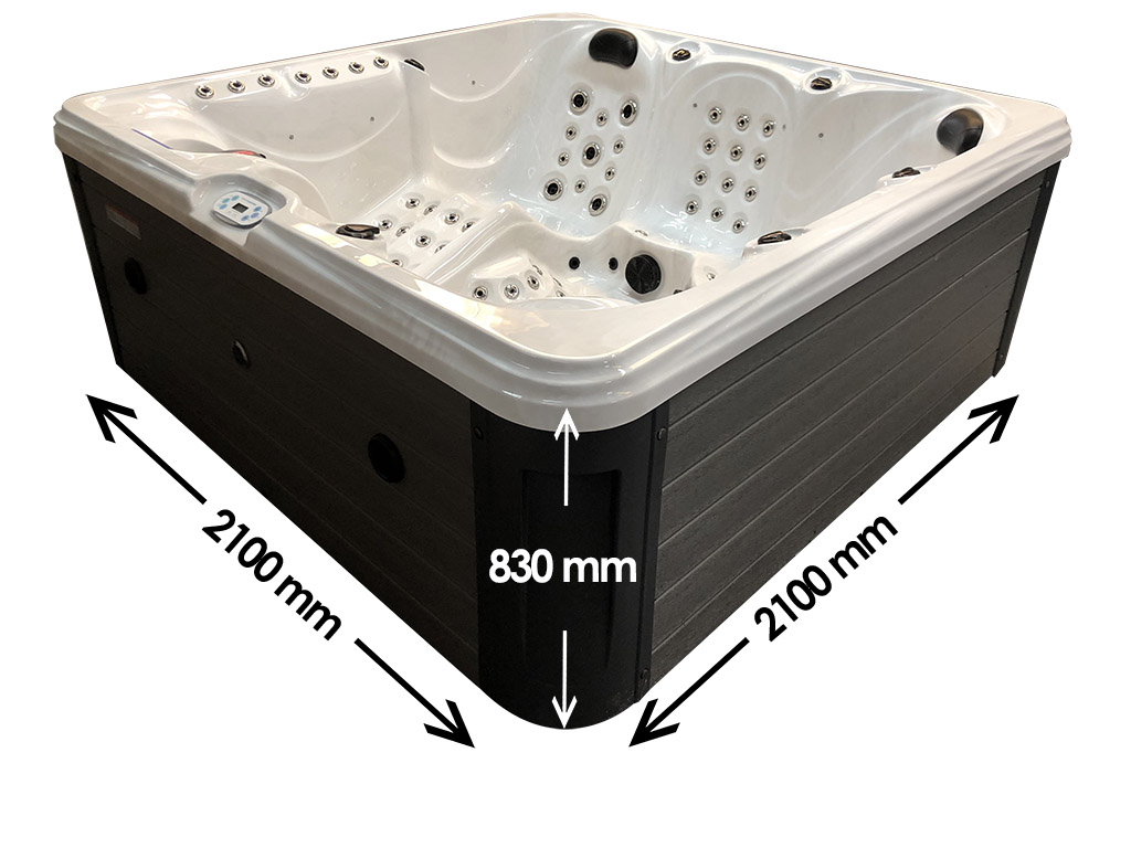 Blue River 6 person hot tub dimensions