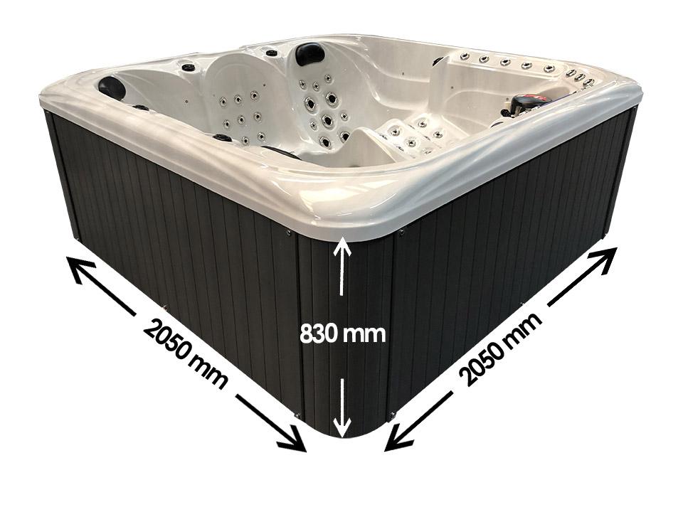 Santa Cora 5 person hot tub Dimensions