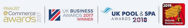 Blue Whale Spa | eCommerce Awards | UK Business Awards| UK Pool & Spa Awards WINNER 2019