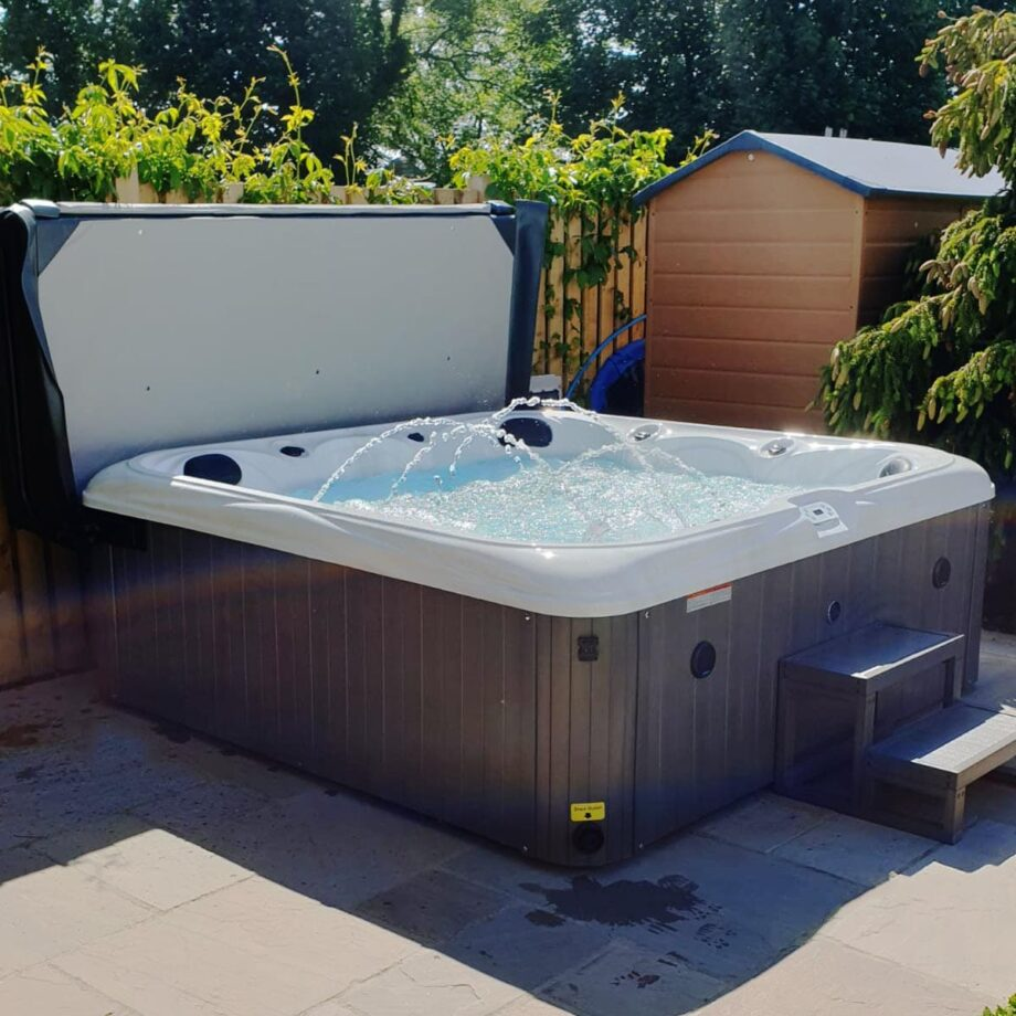 Asbury Hot Tub Installed and Running Image