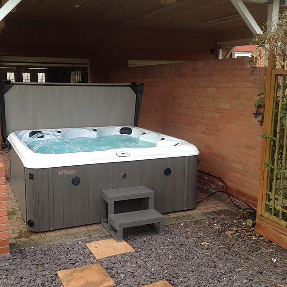 Grand Haven Hot Tub Installed and Running Image