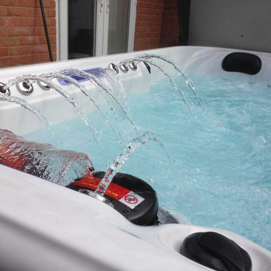 Grand Haven Hot Tub Installed and Running Close Up Image