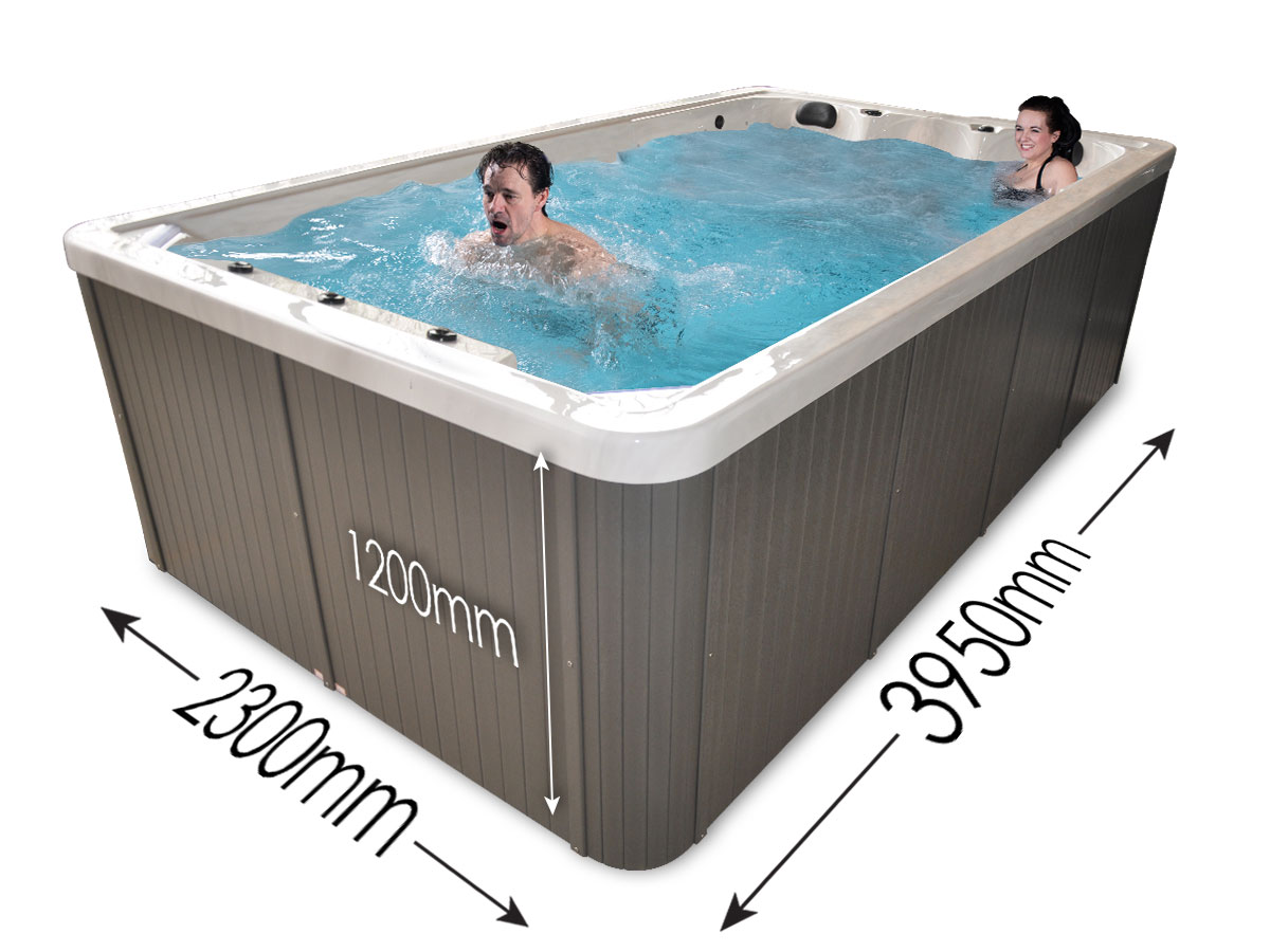 Power Stream Swim Spa - Dimensions