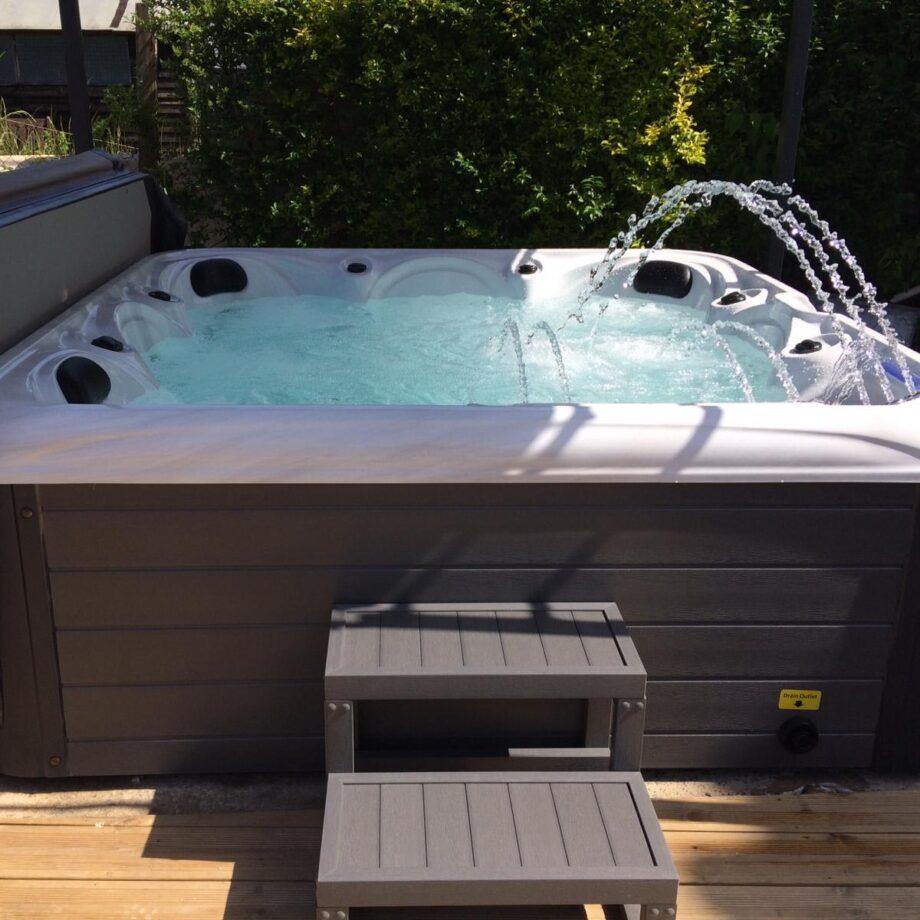 Rockaway Beach Hot Tub Installed and Running Image
