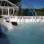 Rockaway Beach Hot Tub Installed and Running Close Up Image