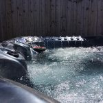 Santa Rosa Hot Tub Installed and Running Close Up Image
