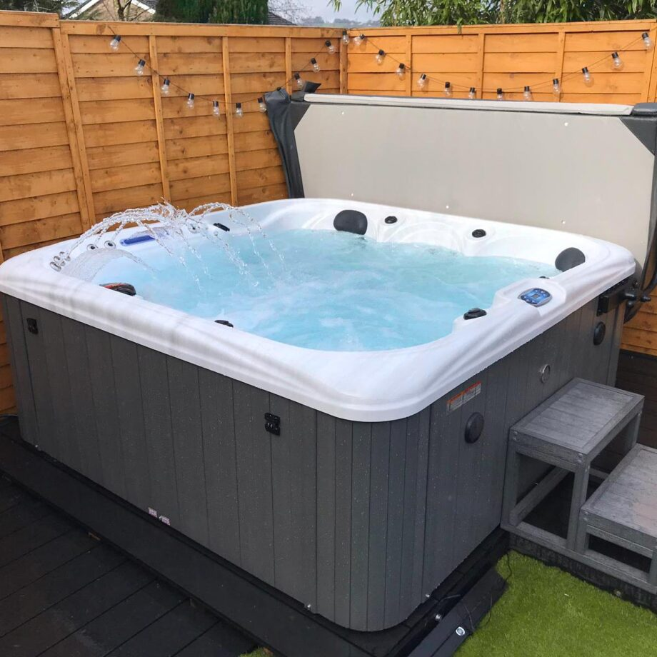 Spring Lake Hot Tub Installed and Running Image