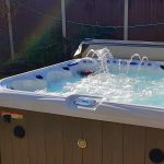 Spring Lake Hot Tub Installed and Running Close Up Image