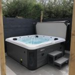 Stone Harbour Hot Tub Installed and Running Close Up Image