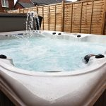 Whitewater Bay Hot Tub Installed and Running Close Up Image