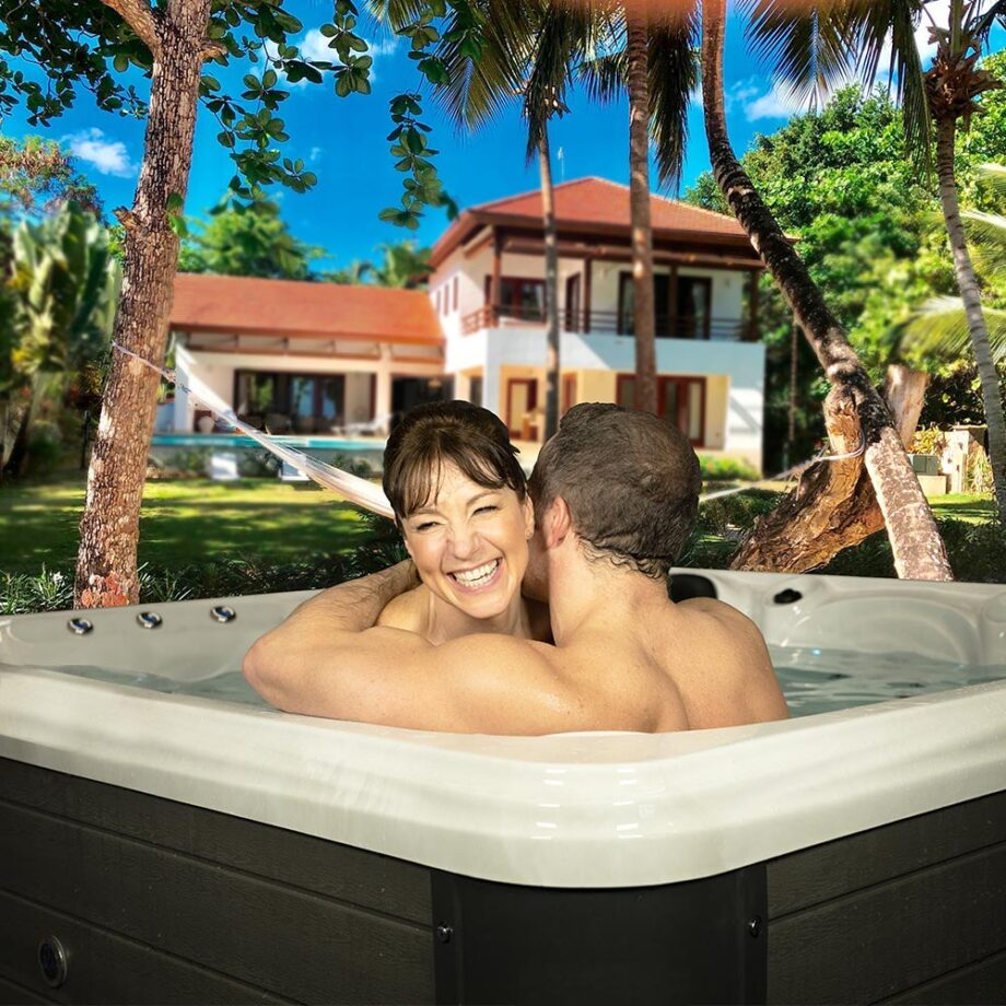 San Marcos - 5 Seater Hot Tub - Summer Lifestyle Image