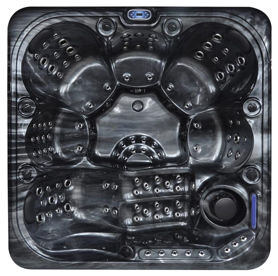 Crescent Bay Deluxe 3 Hot Tub Top View