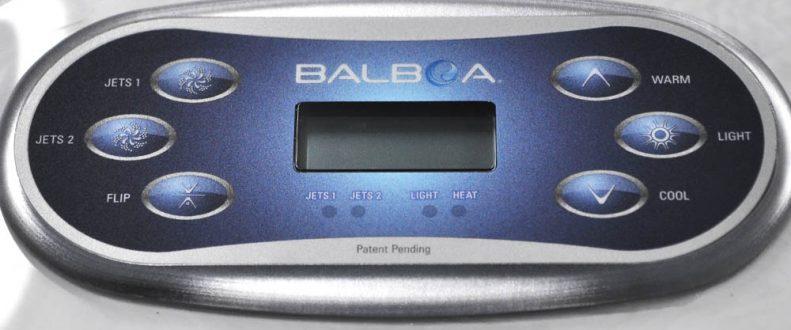 Ivy Beach Hot Tub Balboa Control Panel