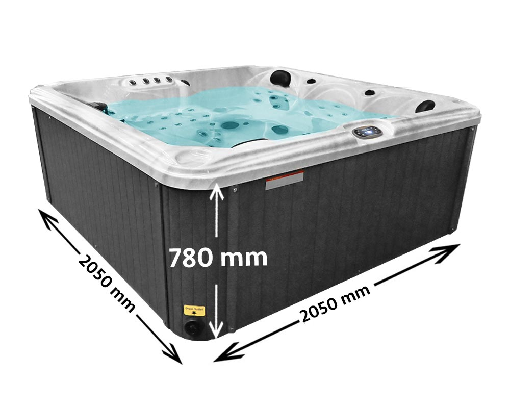 Candy Bay 5 Seater Hot tub Dimensions