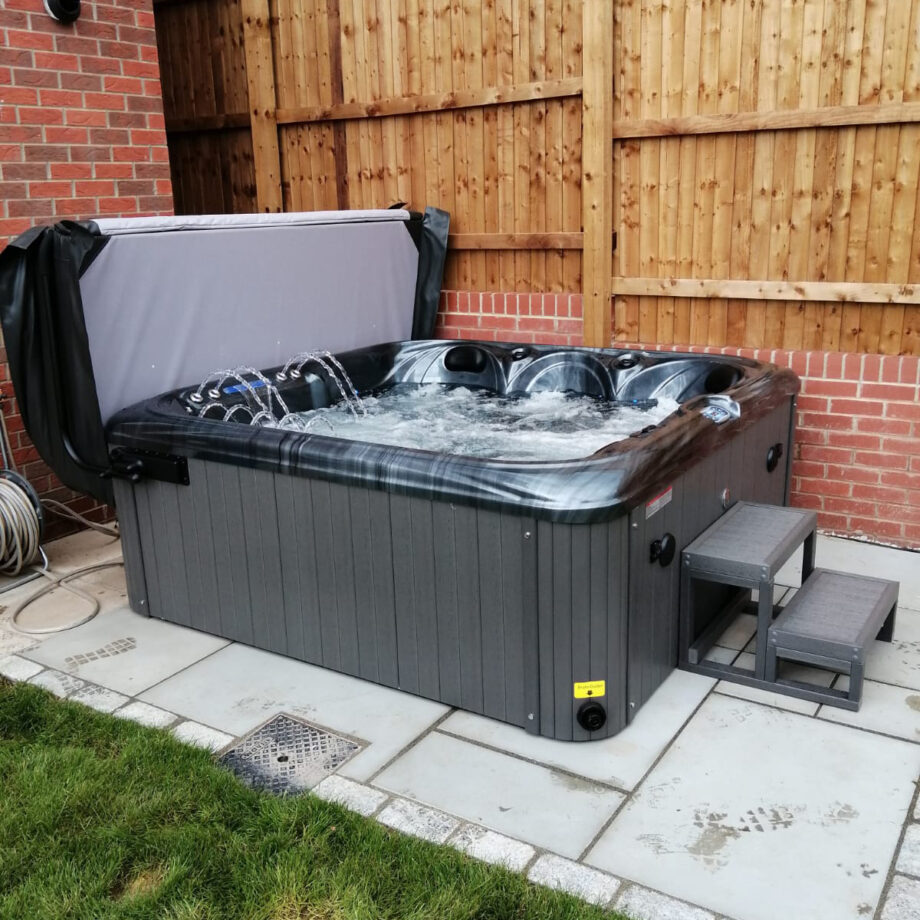 San Julien 5 Seater Hot Tub Installation View 3