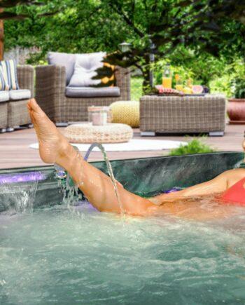 San Julien 5 Seater Hot Tub Lifestyle View