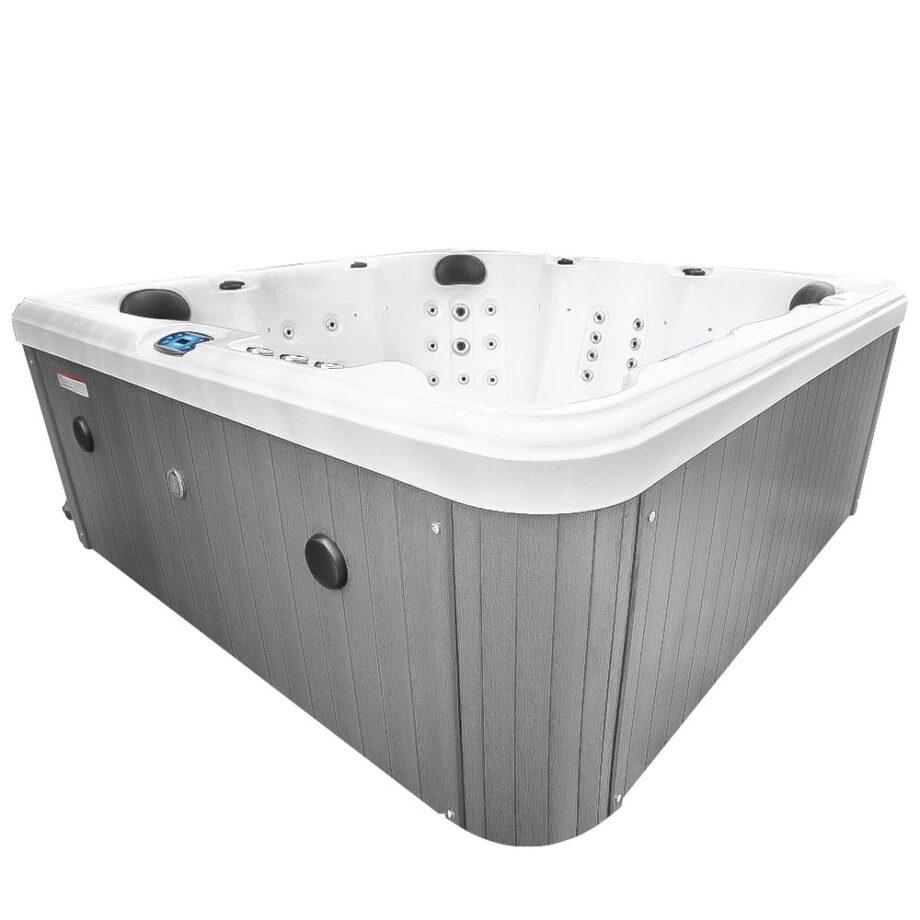 Magic Beach Hot Tub Corner View With Bluetooth Speakers