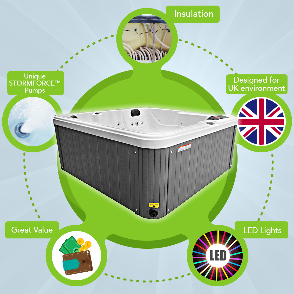 Frampton Bay 5 Seater Energy Efficient Hot Tub
