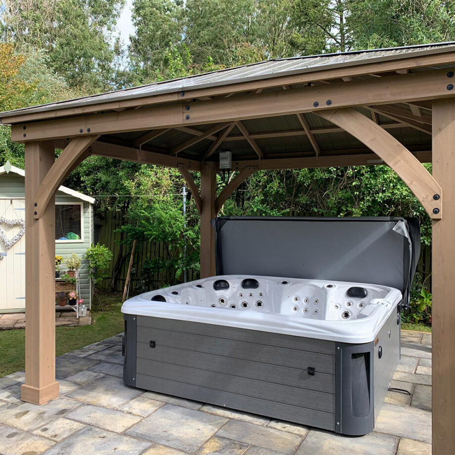 Imperial X six seater hot tub install