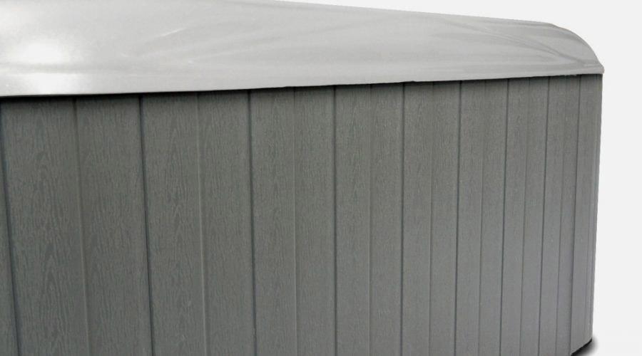White Shell Grey Skirt HotTub