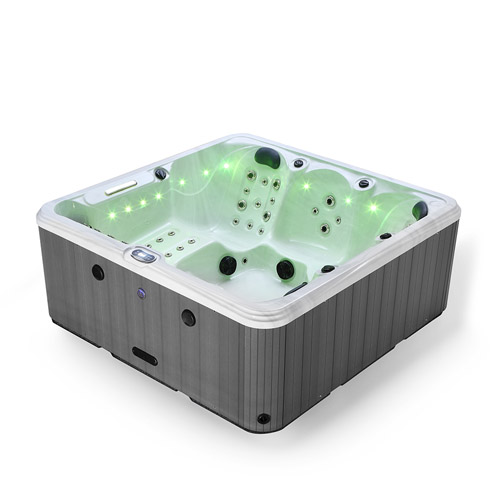 Shoreline Bay Hot Tub Corner View Lime Green
