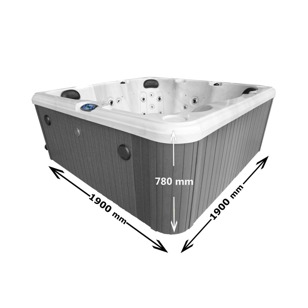 Hatton Bay 6 seater Hot Tub Dimensions
